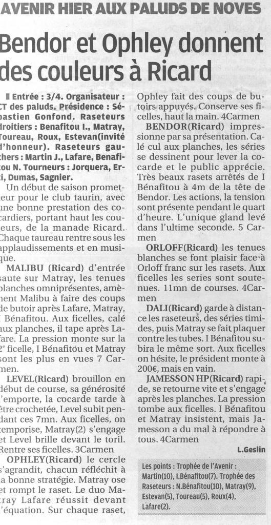01 avril 2012 (la provence)