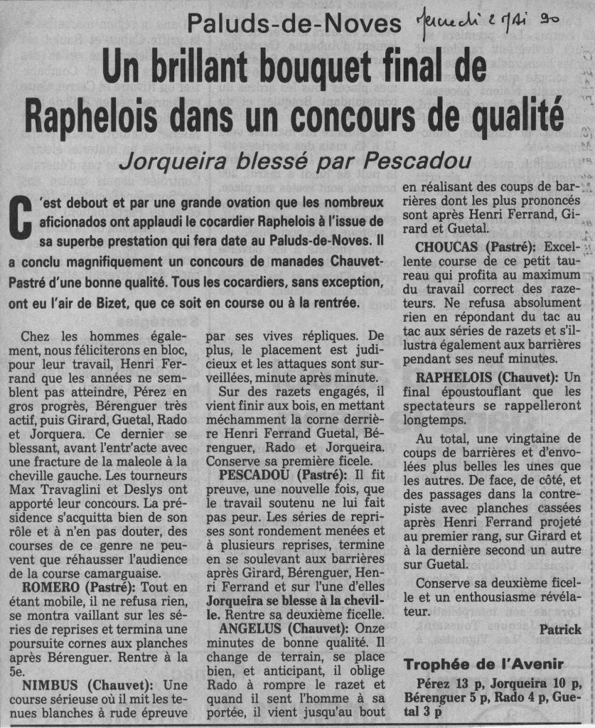 1 Mai 1990 (La Provence)