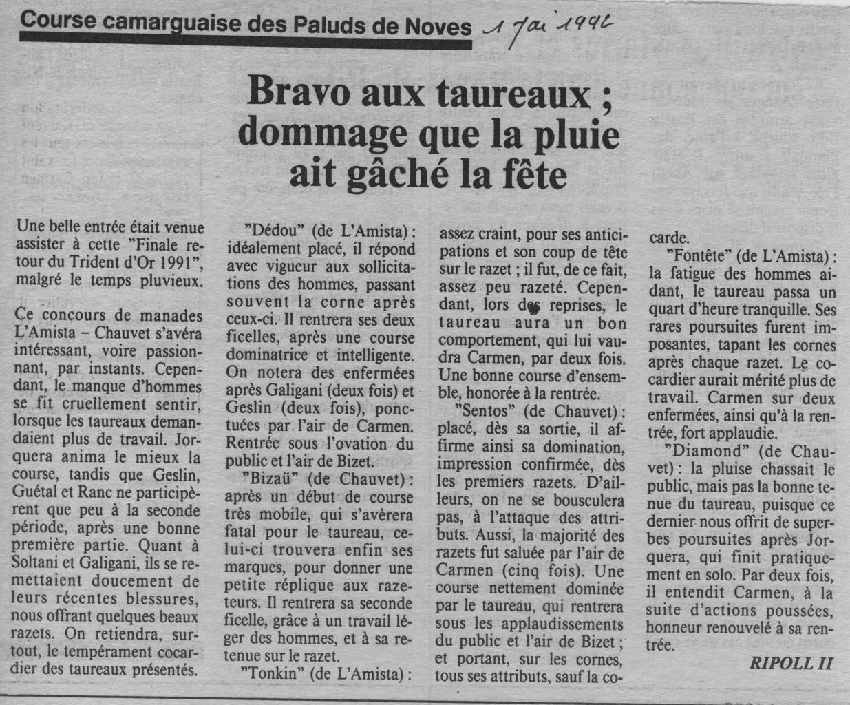 1 mai 1992 ( la marseillaise)