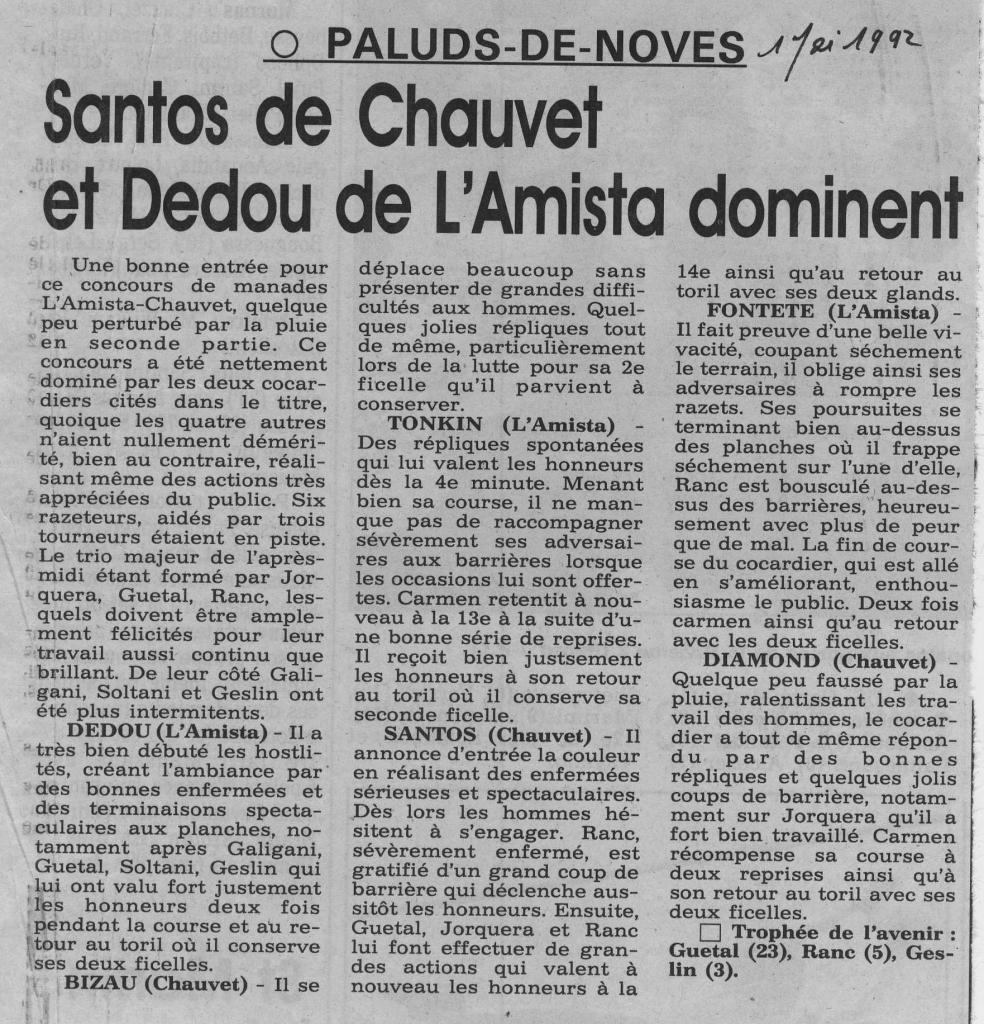 1 mai 1992 ( la provence)