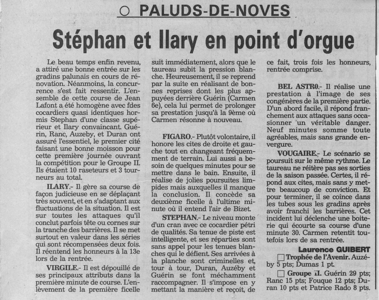 1 mai 1994 ( la provence)