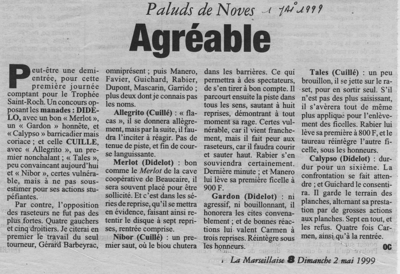 1 mai 1999 ( la marseillaise)