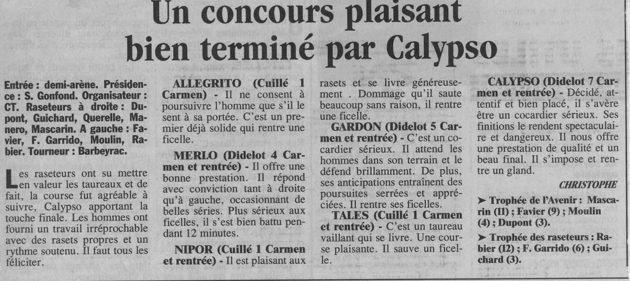 1 mai 1999 ( la provence)