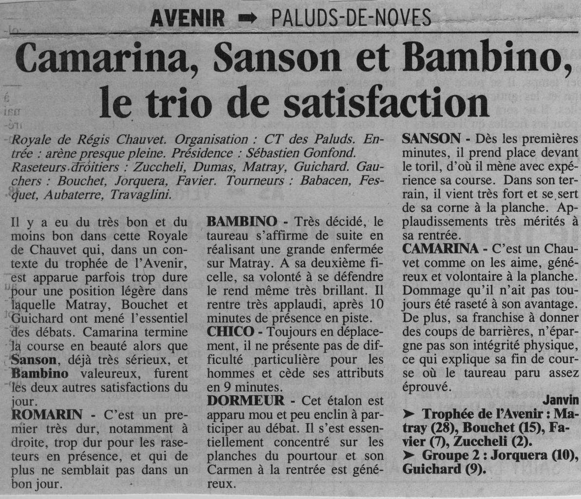 1 Mai 2000 (La provence)
