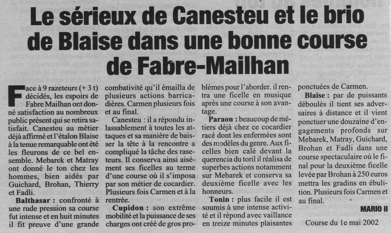 1 mai 2002 (La Marseillaise)