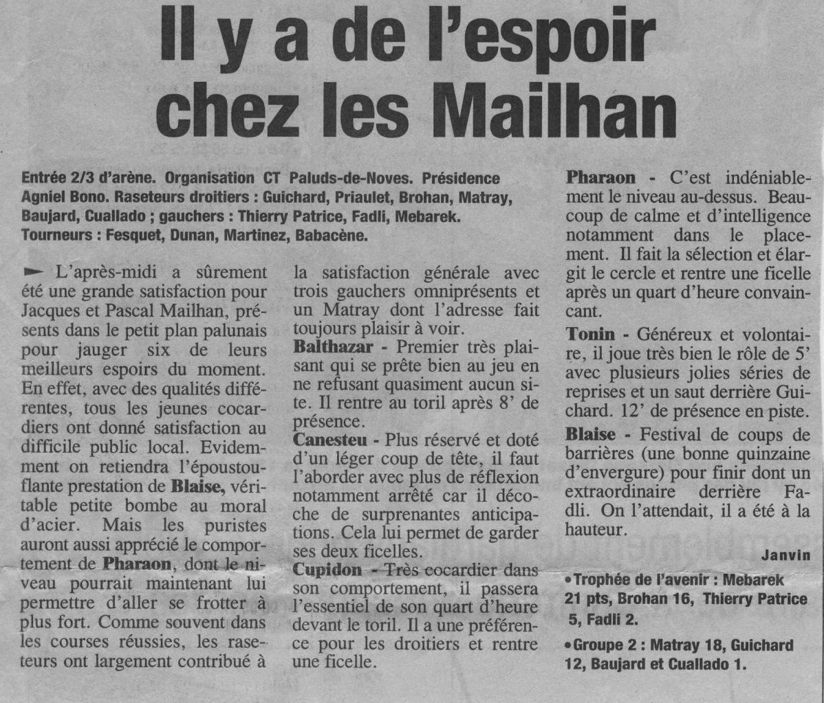 1 mai 2002 ( La provence)