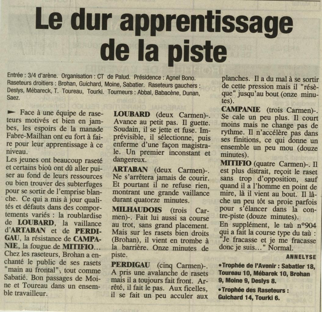 1 mai 2003 ( La provence )