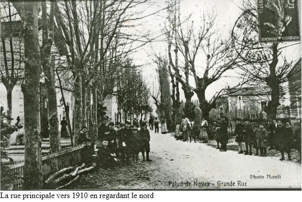 1.Rue principale en 1910