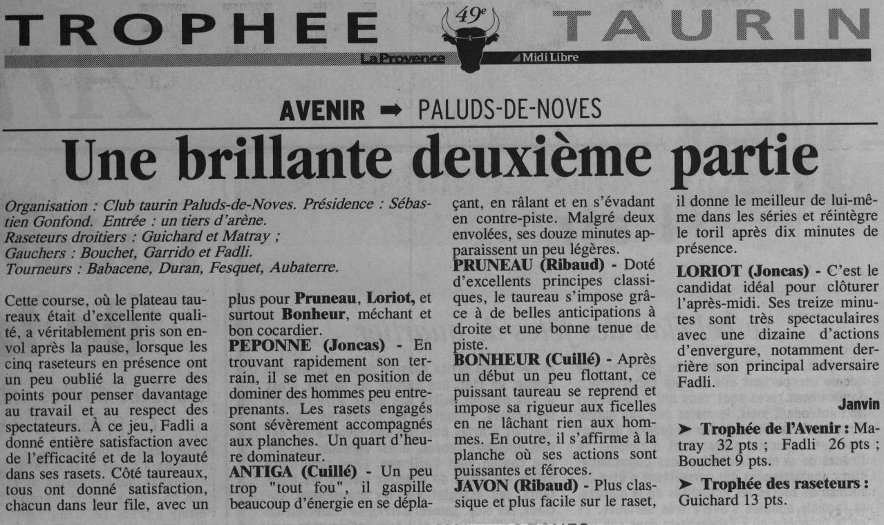 18 juin 2000 (La provence)