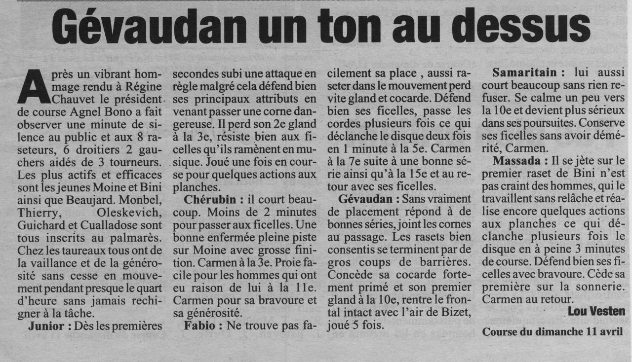 11 avril 2004  La Marseillaise