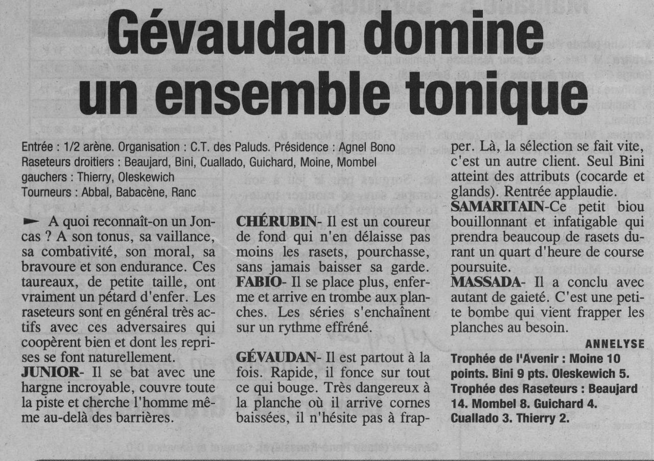 11 avril 2004 ( La Provence )