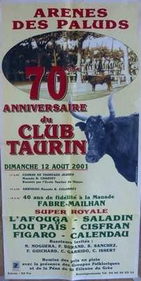 12 aout 2001 70 annif club taurin