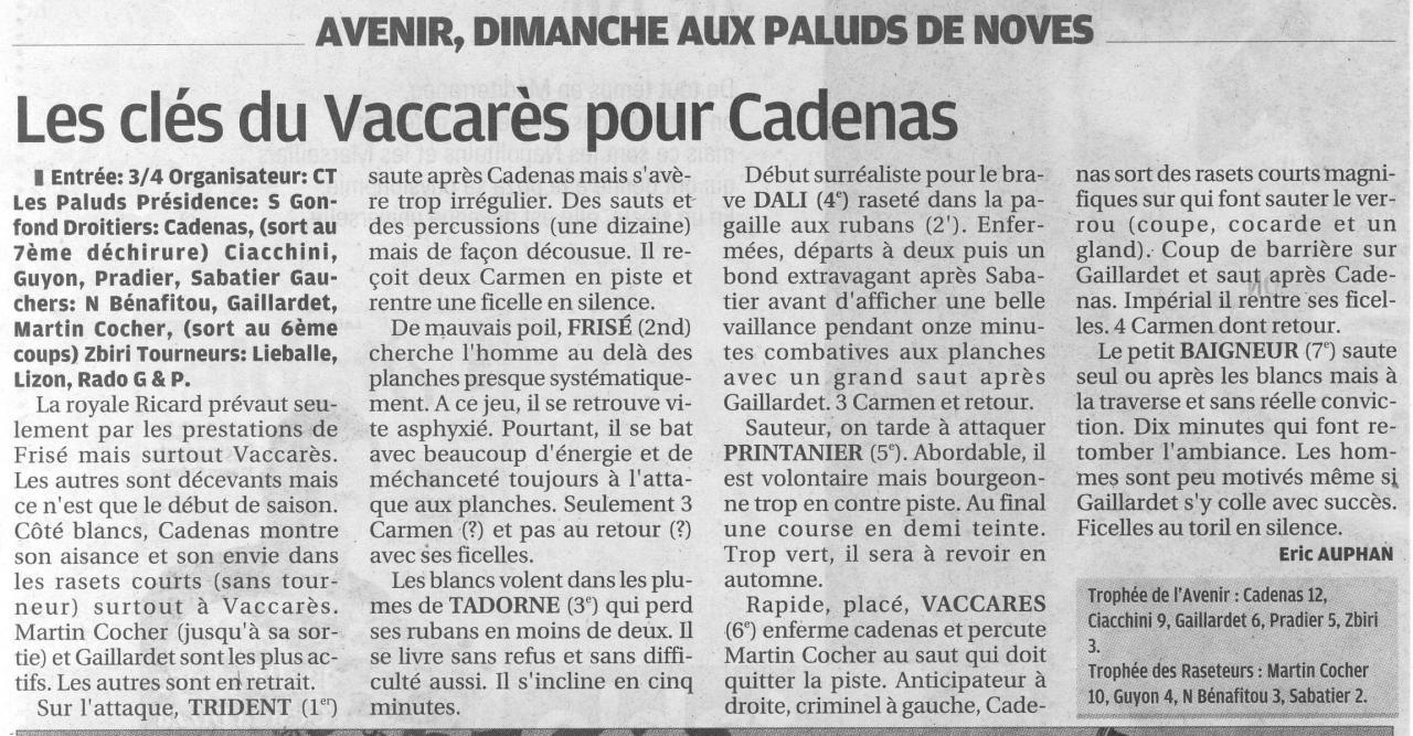 13 Avril 2014 ( La Provence)