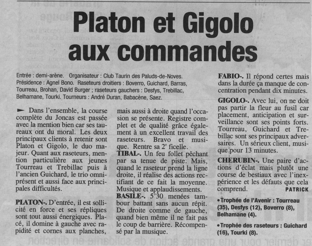 14 avril 2002 ( La provence)