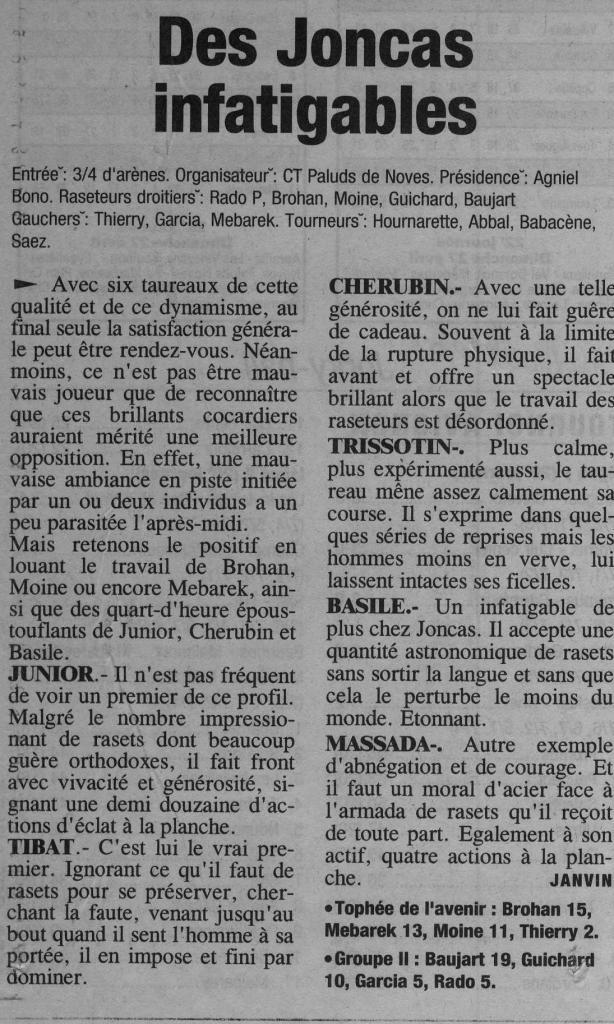 14 avril 2003 ( La Provence)