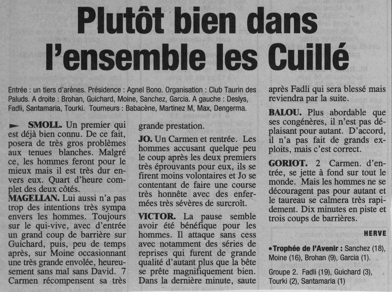 15 juin 2003 ( La provence)