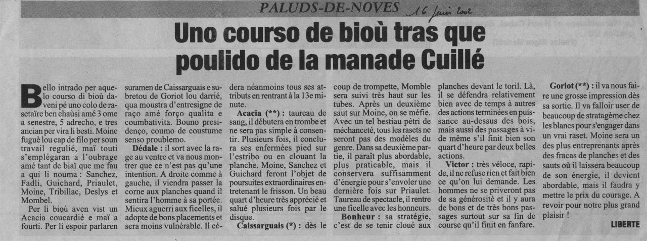 16 juin 2002 ( La Marseillaise)