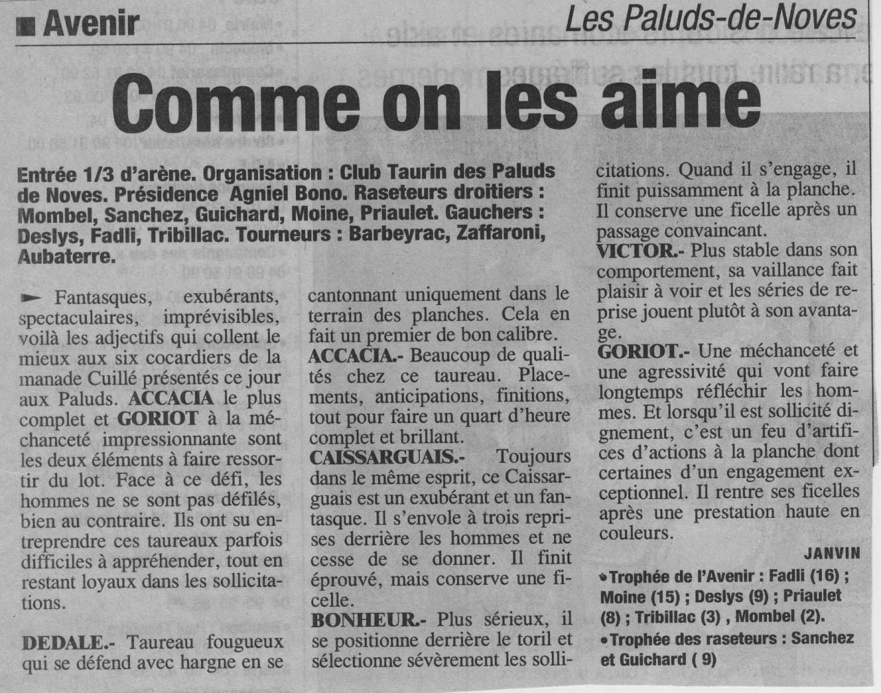 16 Juin 2002 (La provence)