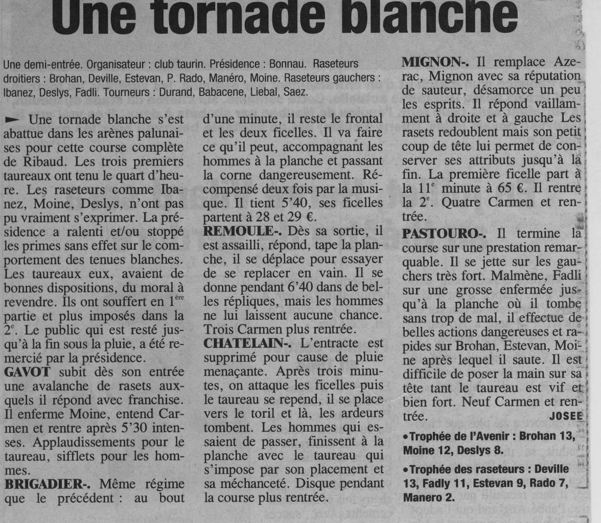 25 mai 2003 ( La Provence)