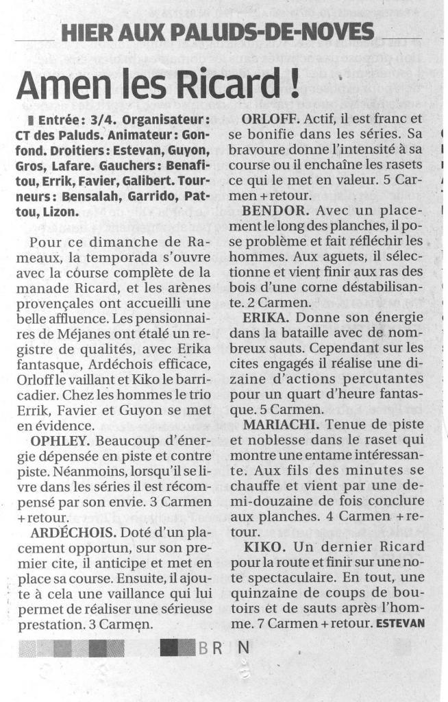 28 mars 2010 ( la provence)