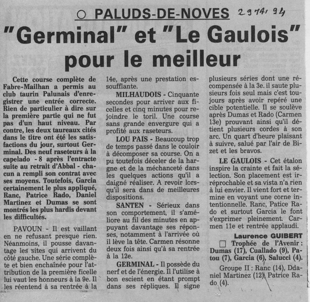 29 mai 1994 (la provence)