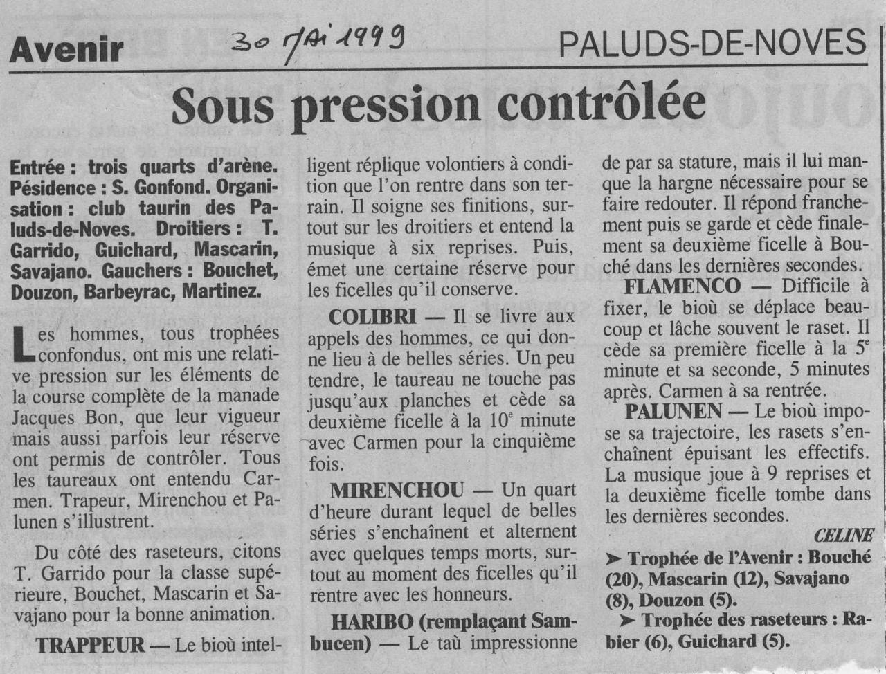30 Mai 1999 ( la provence)