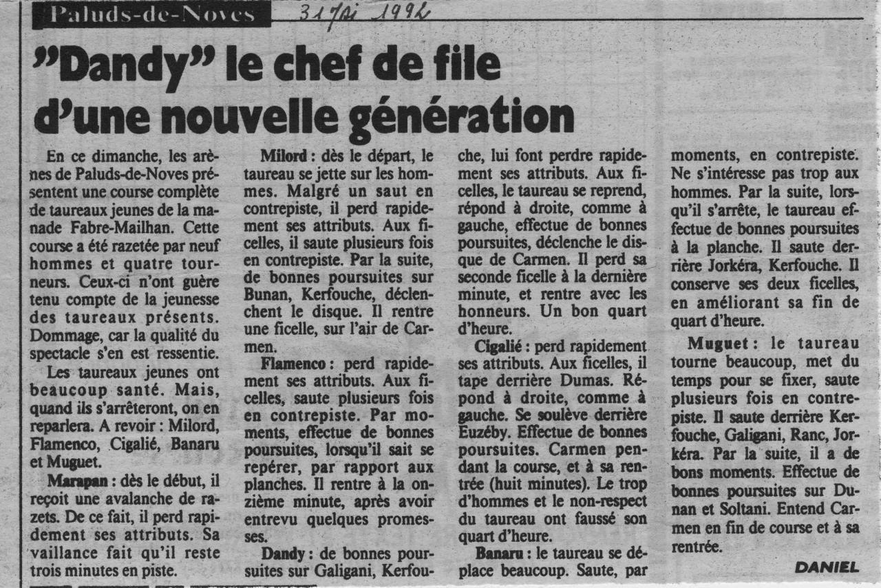 31 mai 1992 (la marseillaise)
