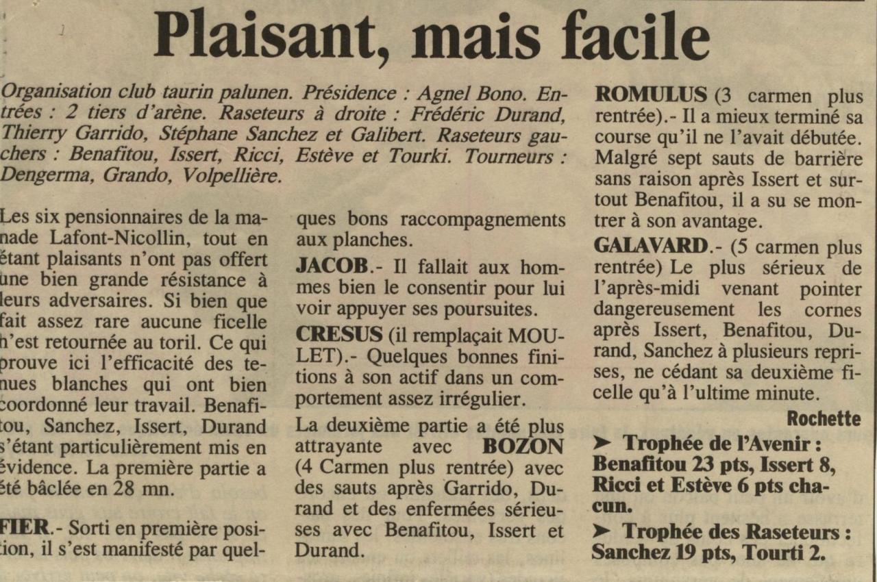 8 avril 2001 ( la provence)