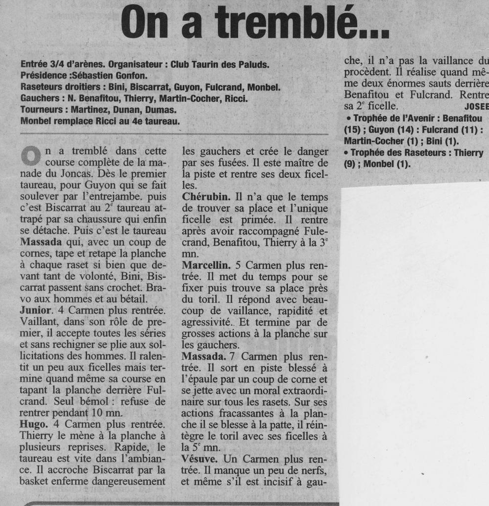 9 avrin 2006 ( La Provence )