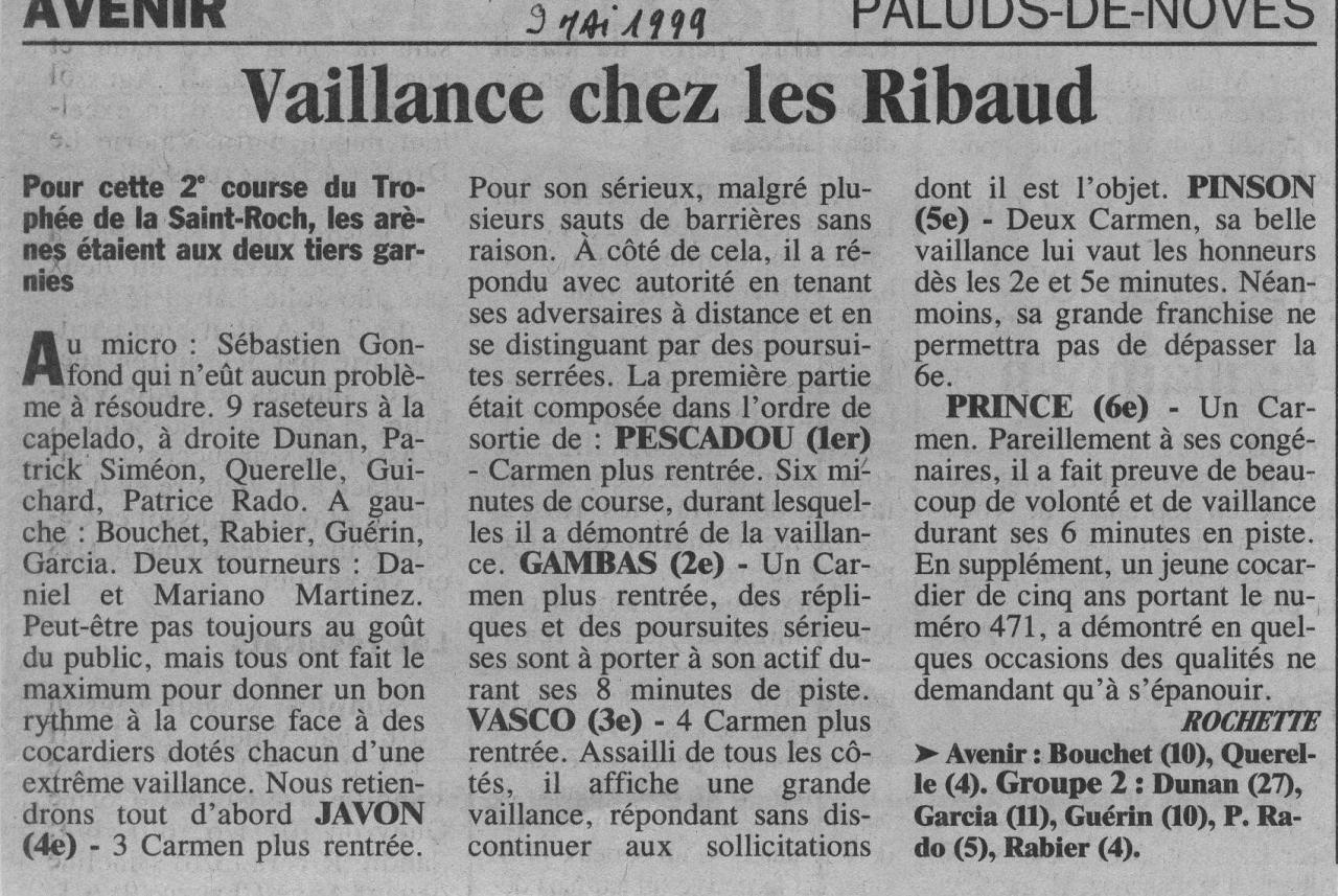 9 mai 1999 ( la provence)