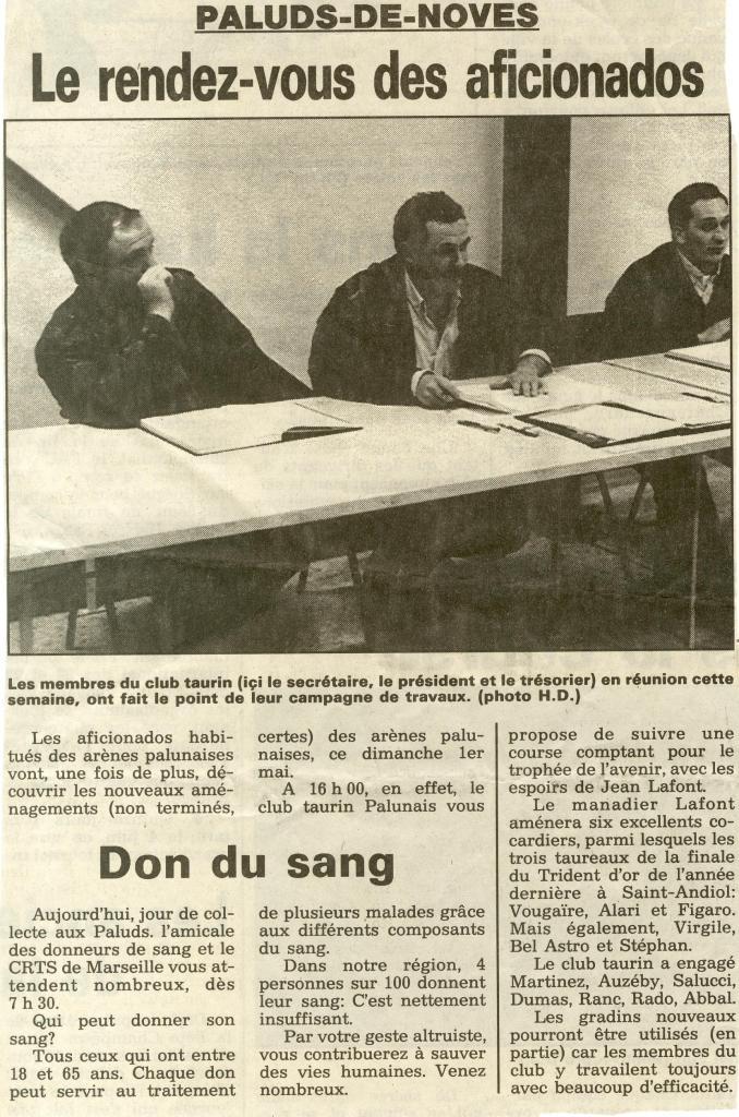 Annonce course Lafont 1 05 1994 ( la provence HD)
