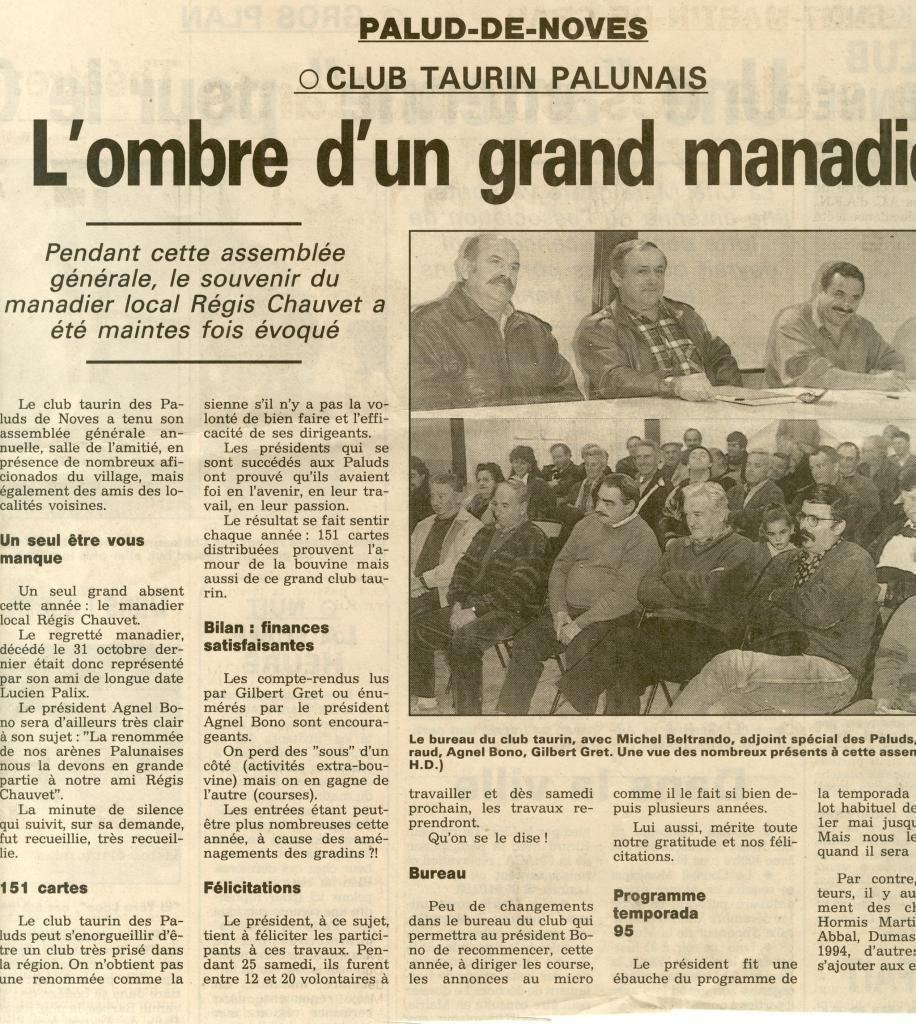 Assemblée générale 1994