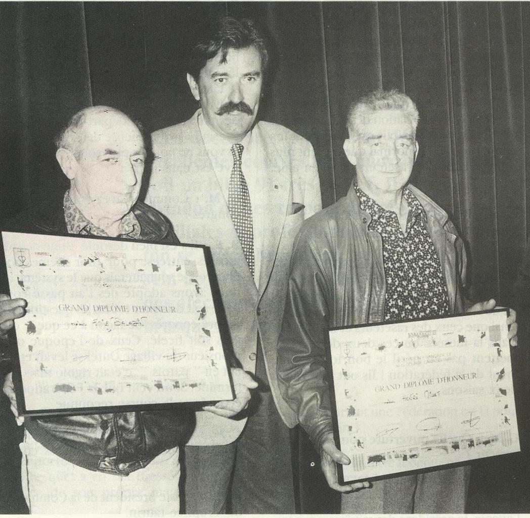 Diplome federal Emile Saladin 1 mars 1992