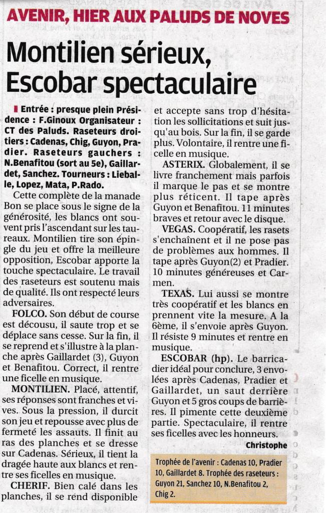 1 mai 2014 (La provence)