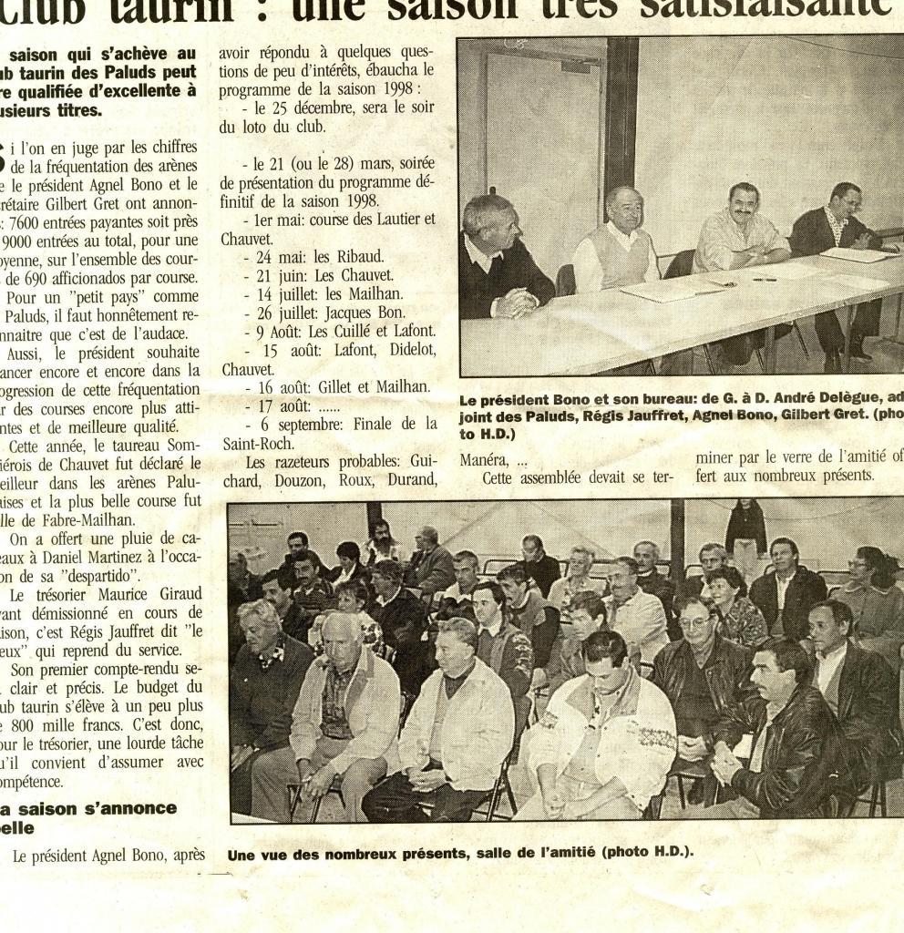 Présentation du programme 1998