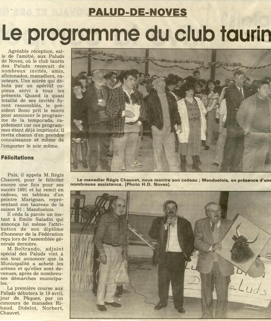 Présentation programme 1992