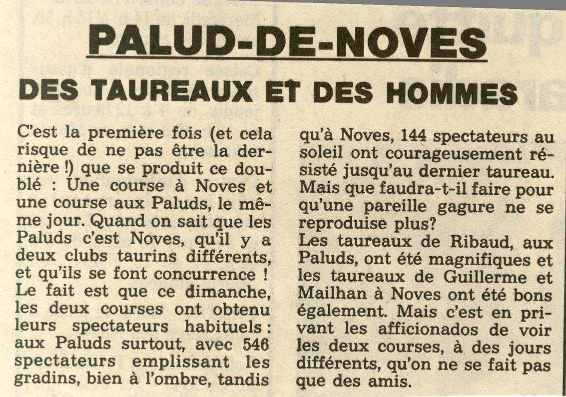 14 mai 1993 course en meme temps aux paluds et a noves