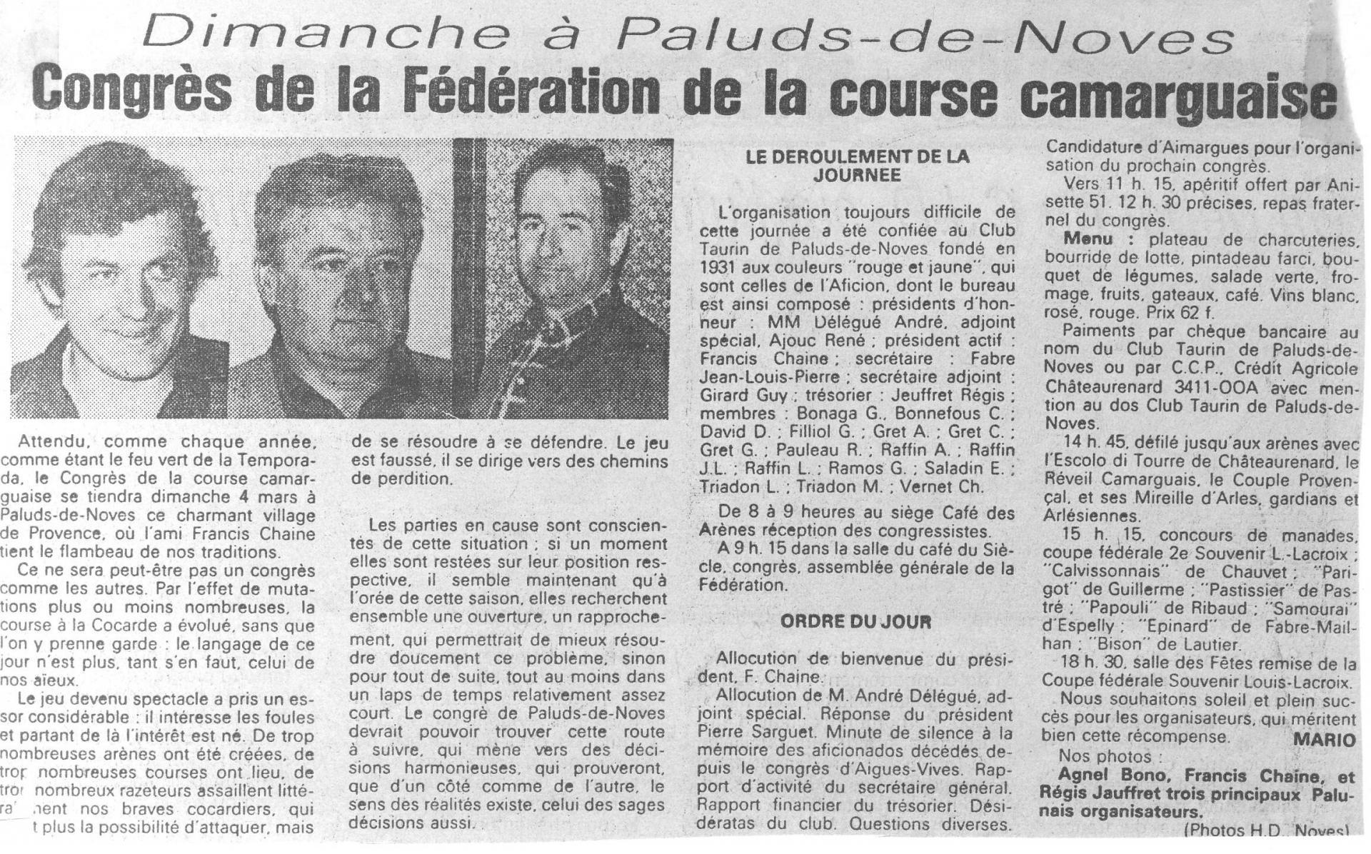 34 congres en 1979 art 3