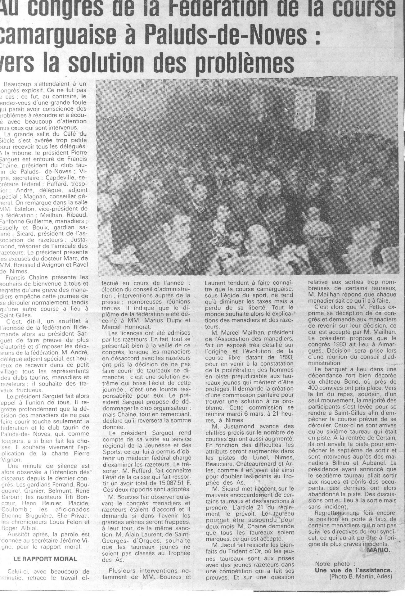 34 congres en 1979 art 6