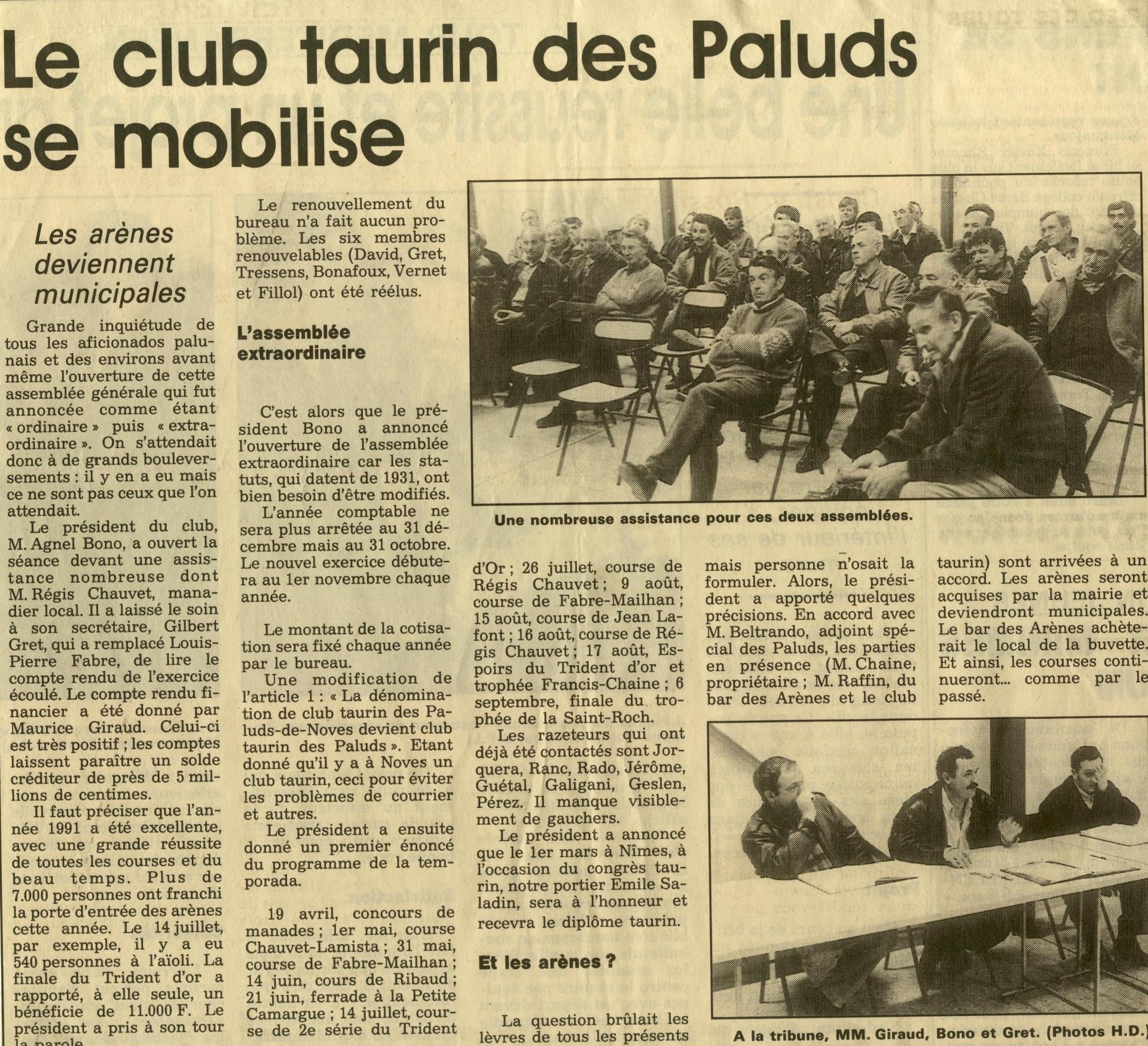 Assemblee generale 1992