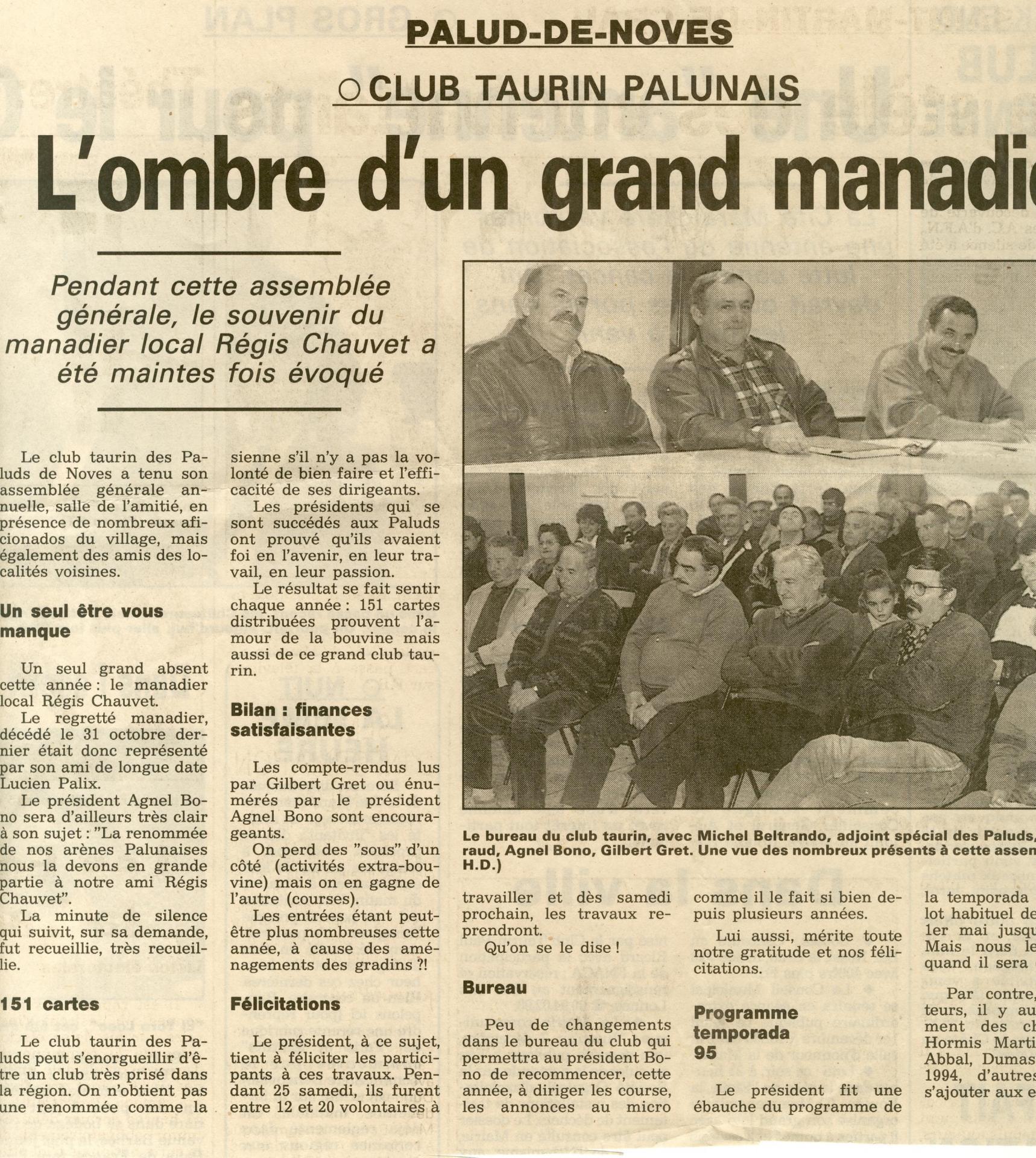 Assemblee generale 1994