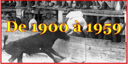 Du 1900 à 1959.
