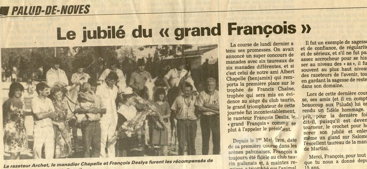 Jubile f deslys 13 aout 1990