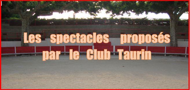 Programme 2015 Club Taurin