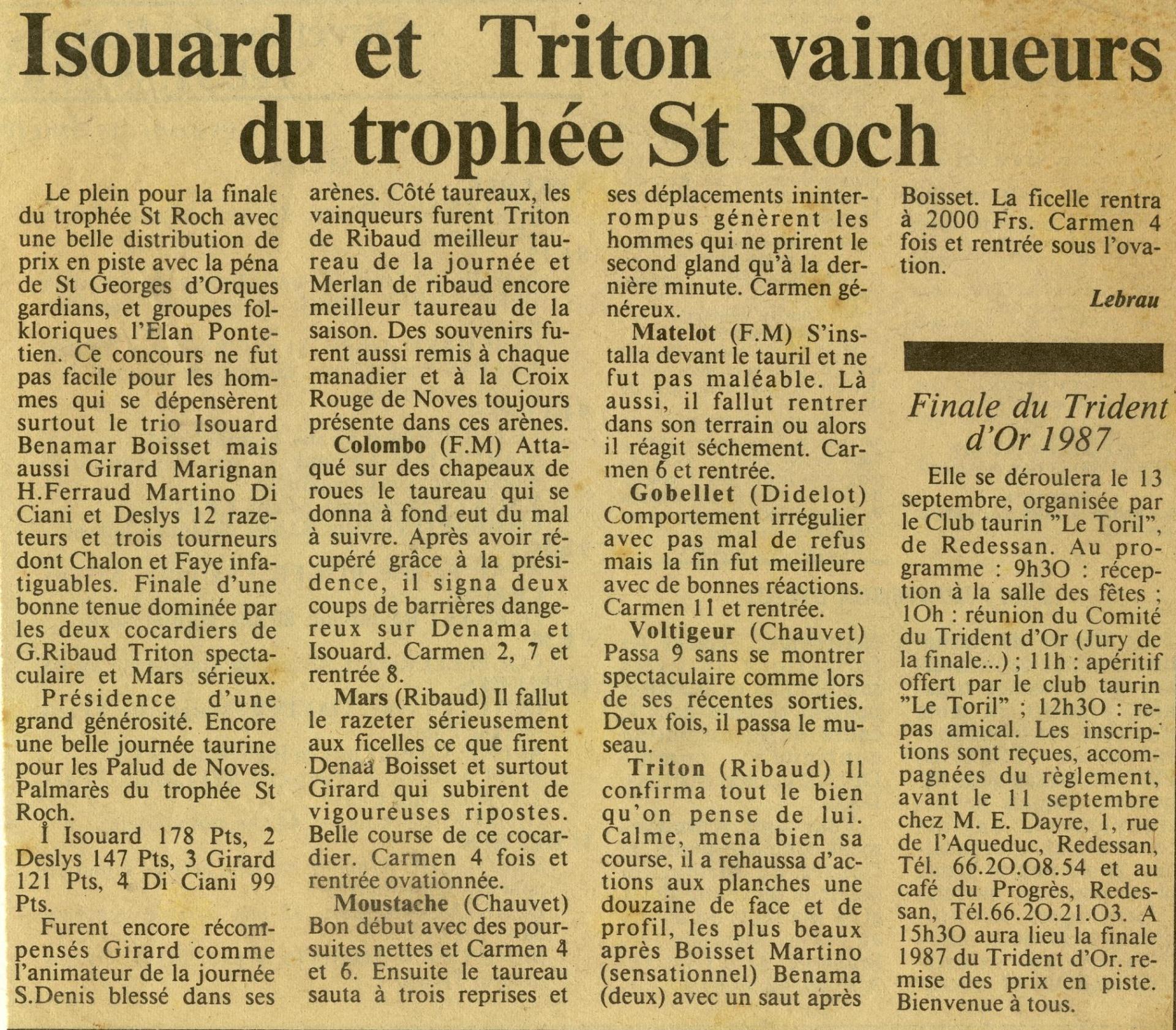 Mars finale st roch 06 09 1987
