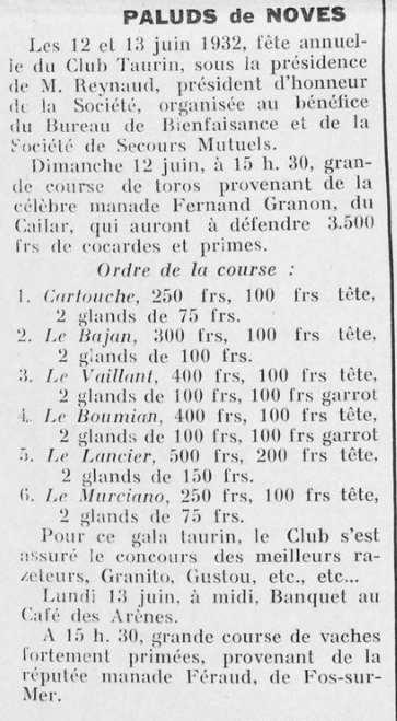Midi taurin 12 13 juin 1933
