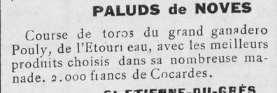 Midi taurin 14 juillet 1930