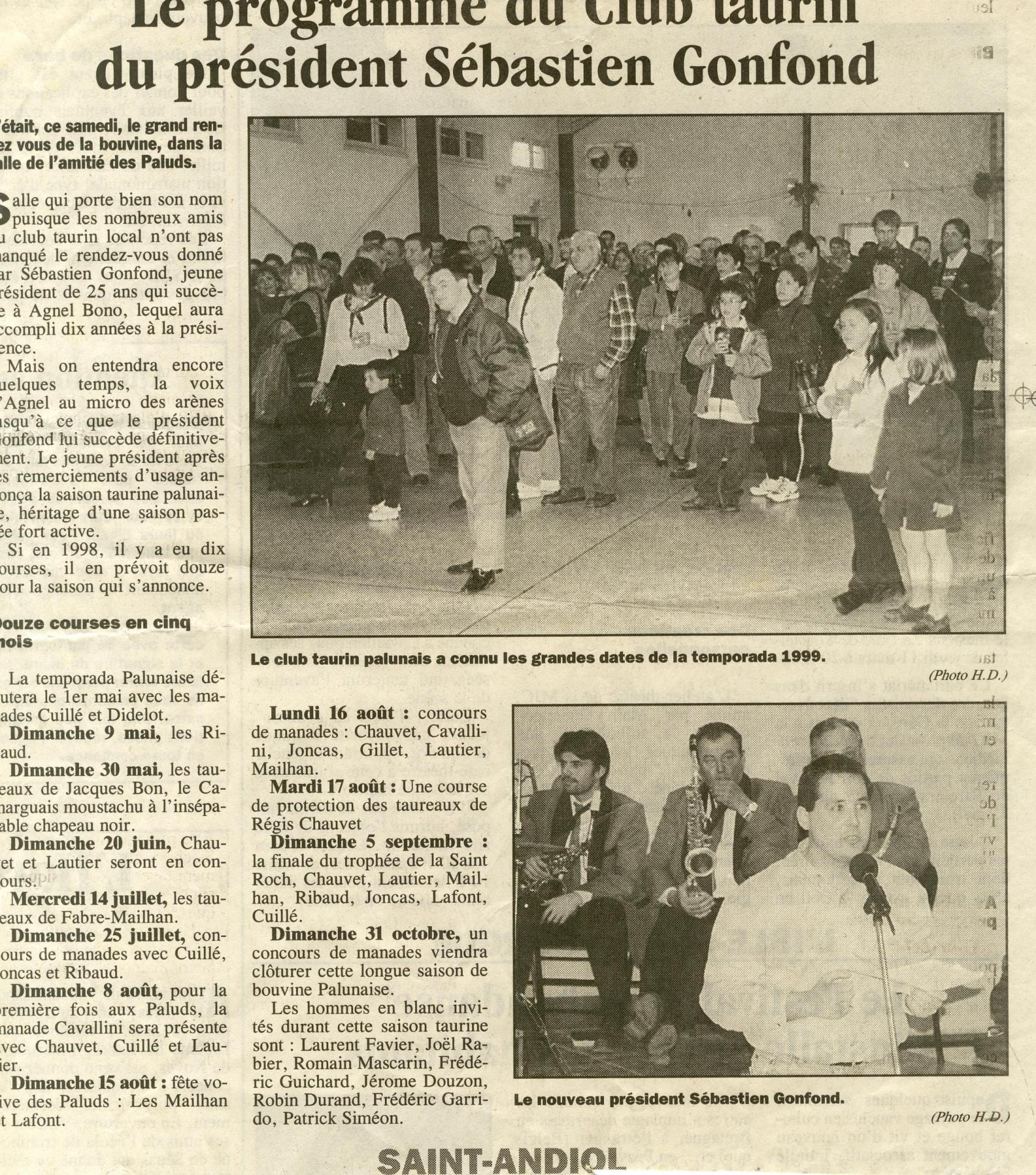 Presentation programme 1999