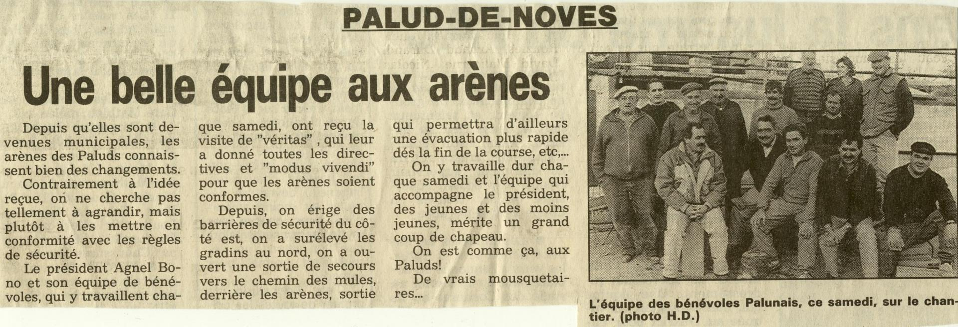 Travaux arenes fevrier 1995